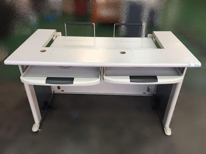 宏品二手家具館~中古家具 家電E32901白面多功能辦公桌 書櫃*電腦桌 辦公桌 兒童桌椅 寫字桌 課桌椅 大學椅拍賣