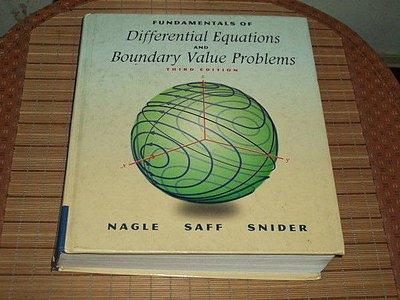古集二手書 ~Fundamentals of Differential Equations and Boundary Value 020133867X