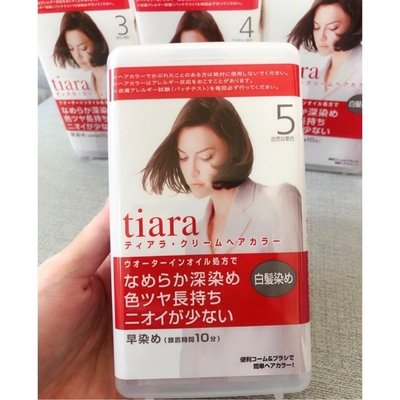 【現貨】日本 資生堂 Tiara 染髮劑 3號/ 4號/ 5號/ 6號 SHISEIDO 白髮專用 染髮霜 新北市