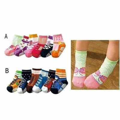 **阿布童裝**【C5787】男女款可愛假鞋襪防滑襪子/短襪/寶寶襪(6雙一組)9-15CM