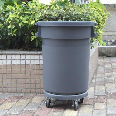 垃圾桶大號商用塑料圓形儲物戶外環衛箱帶輪子有蓋餐飲工業超大碼 可開發票ღ薇銘小鋪