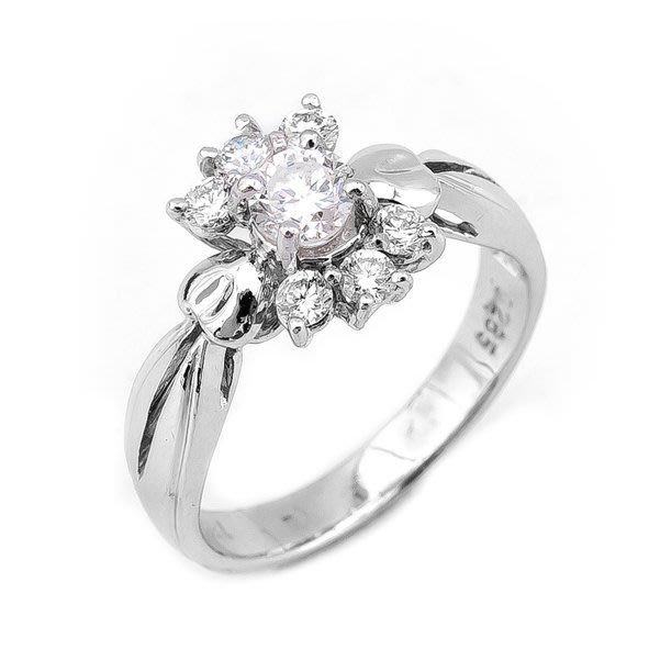 【JHT 金宏總珠寶/GIA鑽石專賣】0.26ct天然造型鑽戒/材質:18K(D000168)