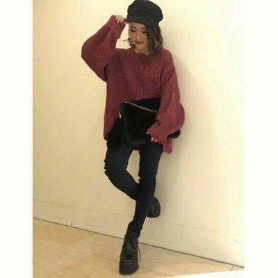 ☆愛莉詩☆日本帶回~日本知名女裝品牌**粗針織圓立領毛衣