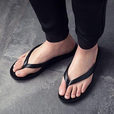 【英爵倫】2020頭層牛皮男士拖鞋透氣真皮flip flops slippers for men 大尺碼男鞋