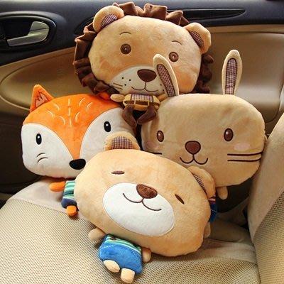 車用頸枕 靠枕(1入)-可作玩偶抱枕可愛造型汽車護頸枕4款73pp461[獨家進口][米蘭精品]