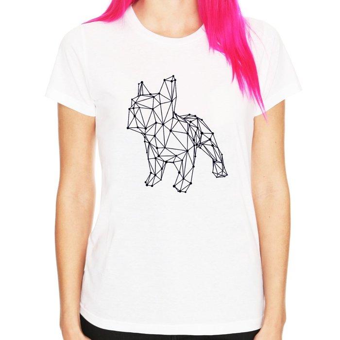 French Bulldog simple女生短袖T恤-2色 巴哥哈巴狗法鬥狗貓禮物動物t 亞版