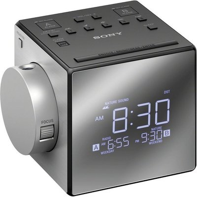 SONY ICF-C1PJ 投影式 雙鬧鐘 電子時鐘,FM收音機 倒數關機