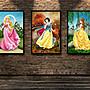 白雪仙蒂公主海報索菲亞裝飾畫迪士尼兒童壁...