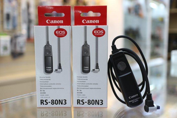 【日產旗艦】正版新品 Canon RS-80N3 電子快門線 快門線 原廠公司貨 5D3 5D4 1DX 6D 7D