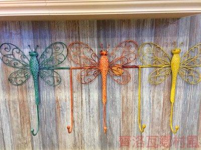 《齊洛瓦鄉村風雜貨》美式鐵製蝴蝶造型掛勾 壁掛鉤架 收納吊鉤架 居家裝飾