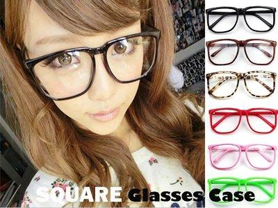 『現貨』男女適用 時尚大框復古方型框糖果色眼鏡造型平光眼鏡架眼鏡框【YZ0001】- 崔可小姐
