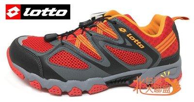 北台灣大聯盟 義大利第一品牌-LOTTO樂得 男款排水透氣山水車三棲鞋 3582 橘紅 超低直購價690元