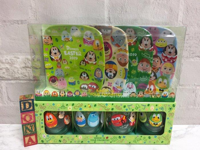 【Dona日貨】日本迪士尼樂園限定 2019年復活節米奇米妮唐老鴨毛怪麥坤彩蛋 杯子+盤子/餐具組(2組共8件) B28