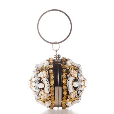 晚宴 包 繡珠手拿包-時尚新款圓球形精美女包包73su10[獨家進口][米蘭精品]