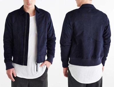 PUBLISH BRAND 羽毛logo 飛行夾克 鋪棉厚實保暖 日本深藍染劍道風外套 美國加州街頭健身幾何線條 現貨S