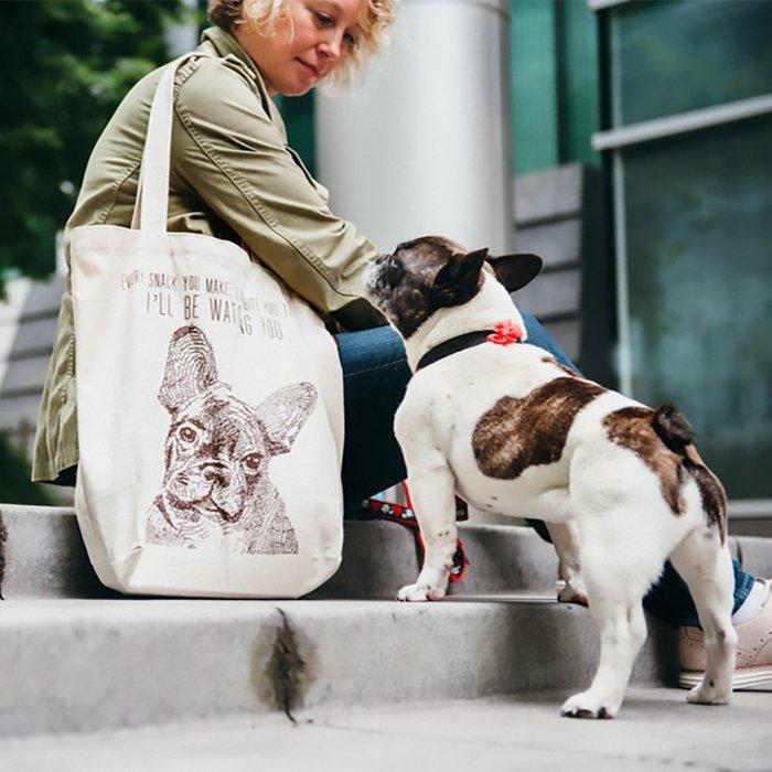 ☘小宅私物☘ 美國 P.L.A.Y. 環保購物袋 狗狗帆布包 法國鬥牛犬 單肩帆布袋 寵物提袋 現貨附發票