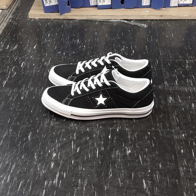 Converse ONE STAR 黑色 黑白 麂皮 經典款 基本款 鞋墊 星星 復古 板鞋 158369C