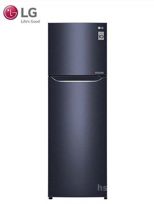 *~新家電錧~*【LG樂金 GN-L307C】253公升 Smart 直驅變頻上下門冰箱 典雅藍