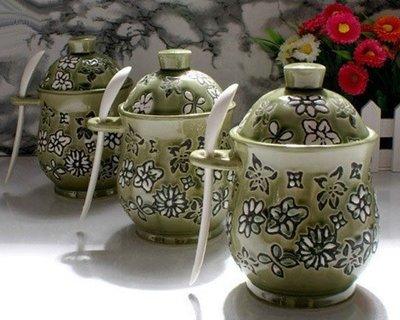 5Cgo \\【鴿樓】 6166857455 幕府將軍 時尚古典調味罐 調味具三件套 茶咖啡糖