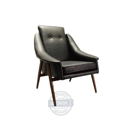 【Decker • 德克爾家飾】北歐家具 老式復古 轉印鐵件 經典設計家具 單人沙發 Lobby Chair - 單人