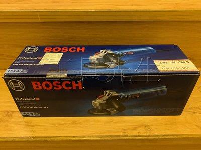 含稅價/GWS750-100S【工具先生】德國 BOSCH 4吋 調速 手持 砂輪機。研磨機 非 GWS7-100ET