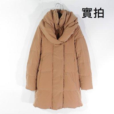 日貨 羽絨外套大衣立領高領大翻領羊羔絨長版大衣保暖舒適 日本連線