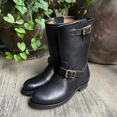 [Y2 Leather] 馬皮工程師靴 eco horsehide 波蘭馬皮使用 日本製 工裝 頂配 黃銅帶扣 現貨直發