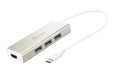 喬格電腦 凱捷j5create JCH451 USB 3.1 Type-C轉HDMI充電傳輸集線器