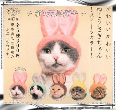 ✤ 修a玩具精品 ✤ ☾現貨扭蛋☽ 日本 可愛 貓咪頭巾 貓頭巾 兔兔系列 全5款 優惠特價中