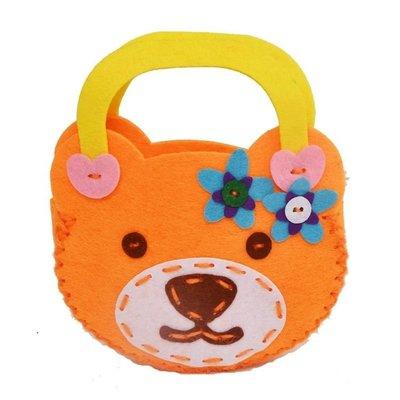Osmileooo-兒童益智DIY手工小熊包包 不織布材料包