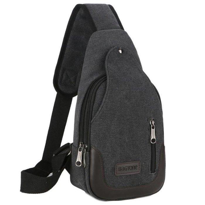 胸包—包包新款男士胸包帆布包斜背包男包單肩包韓版小背包休閒腰包