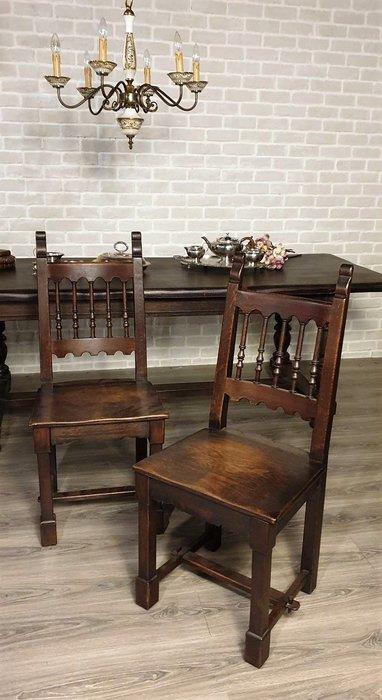 【卡卡頌  歐洲古董】 🍒法國古董老件~老橡木 實木雕刻 單椅  餐椅  書桌椅  ch0436 ✬