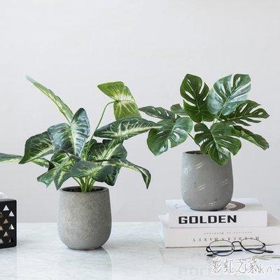 ins北歐創意仿真盆栽桌面小盆栽擺件室內辦公室餐廳裝飾綠植物盆景 XY4954
