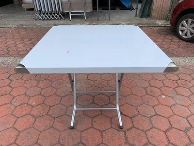 香榭二手家具*全新品304正白鐵 3x3尺折合桌-不銹鋼桌-不鏽鋼-折疊桌-小吃桌-餐桌-火鍋桌-戶外桌-飯桌-工作桌