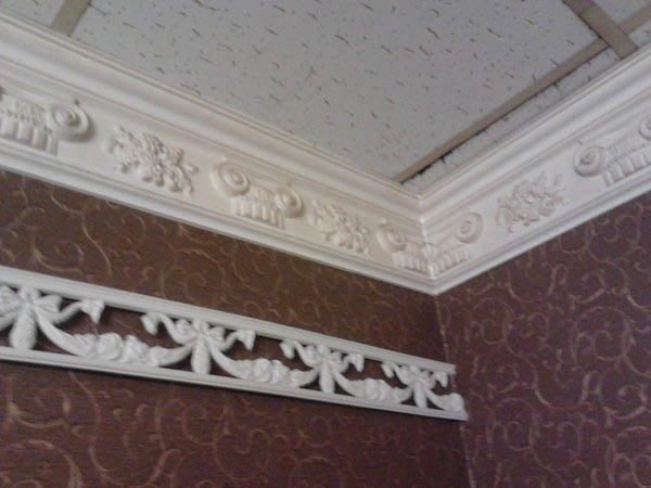 歐洲宮廷式藝術- 維多利亞 巴洛克 -PU浮雕 角線板 促銷線板PL-0178  每支@$790