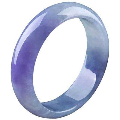 天然缅甸翡翠紫罗蓝扁条手镯……要预定。