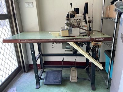 二手 SIRUBA 拷克車 工業拷克縫紉機(布邊車) 三線有加裝拉布機