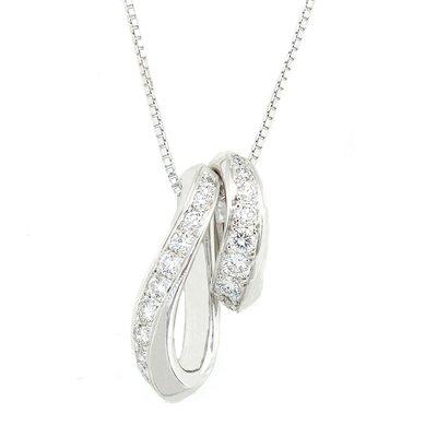 【JHT金宏總珠寶/GIA鑽石專賣】0.33ct天然鑽石項鍊/材質:墜/18K 鍊/PT850 (JB41-D18)