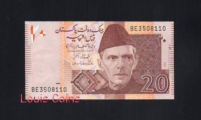 【Louis Coins】B130-PAKISTAN-2007巴基斯坦紙幣20 Rupees