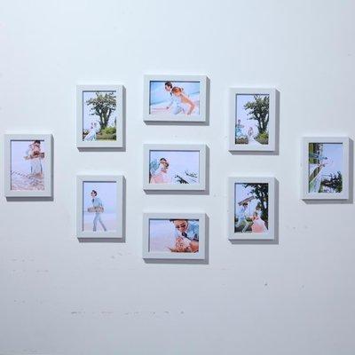 ☜男神閣☞全5寸相框掛墻客廳創意組合 臥室畫框相片墻照片墻裝飾