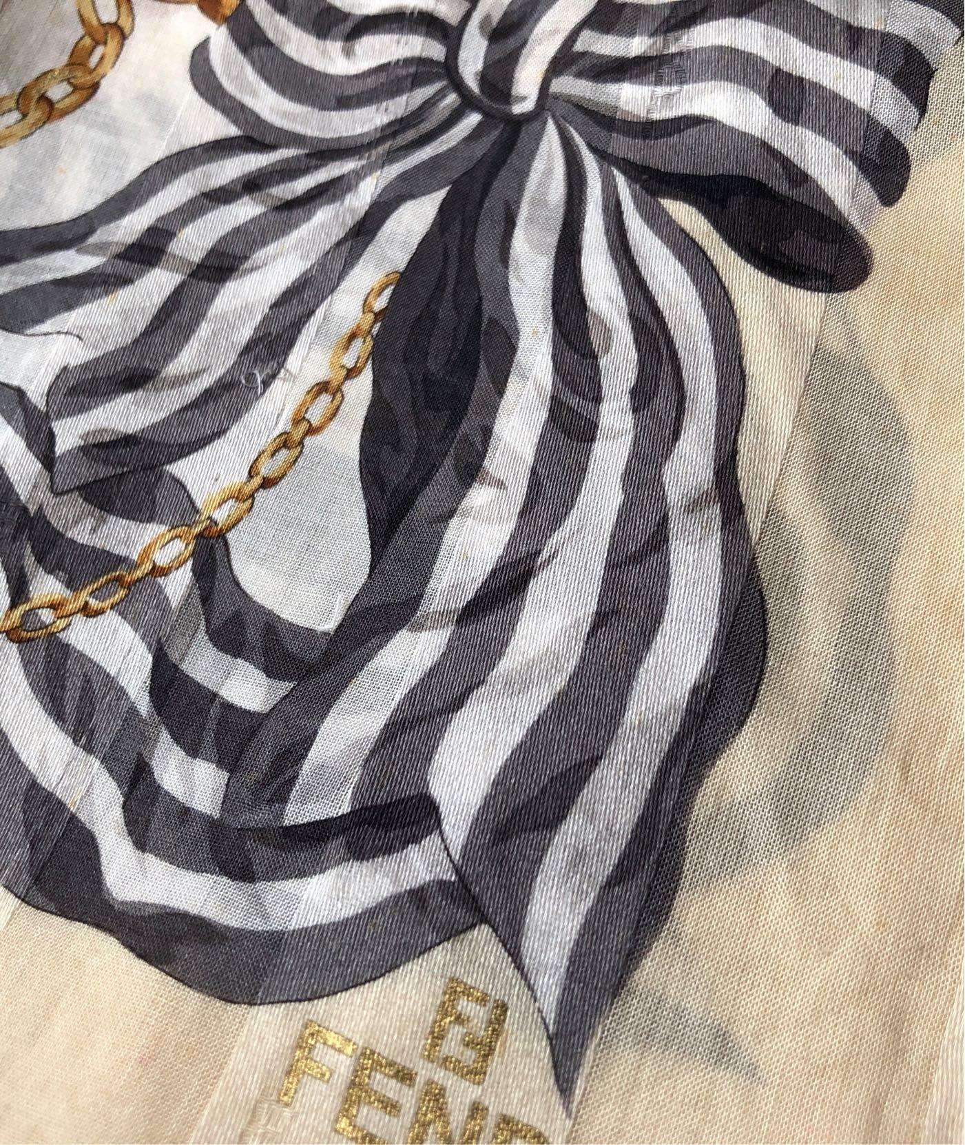 日本攜回Fendi女性手絹手帕,約58/58