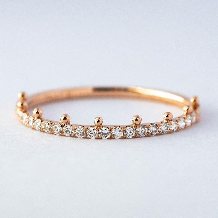 【JHT金宏總珠寶/GIA鑽石專賣】0.15克拉小鑽線戒 #10 /材質:18K(DR1537R)