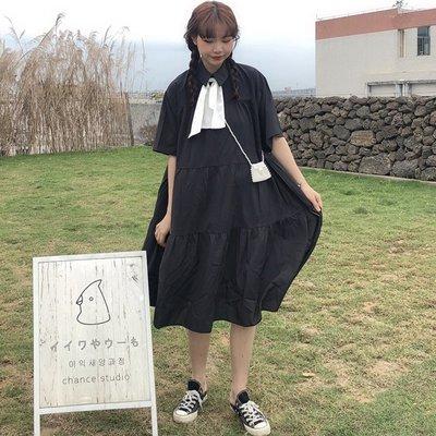 三木子快時尚女裝~  新款韓版寬松顯瘦連衣裙連身裙 A字裙