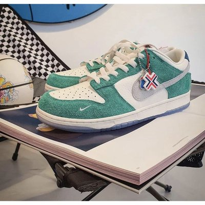 "Kasina x Nike Dunk Low ""Road Sign""渦輪綠 CZ6501-101 BigShoe"