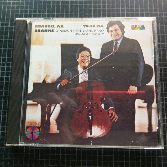 ※藏樂小舖※ (古典CD) 馬友友& Emanuel AX~Brahms Sonatas/大提琴 RCA (早期美版)