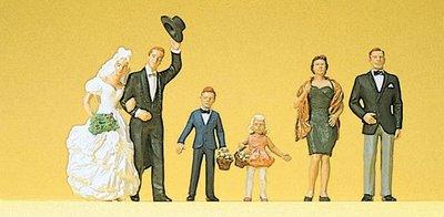 傑仲 (有發票) 博蘭 公司貨 Preiser 人物組 Bride and bride-groom 10339 HO
