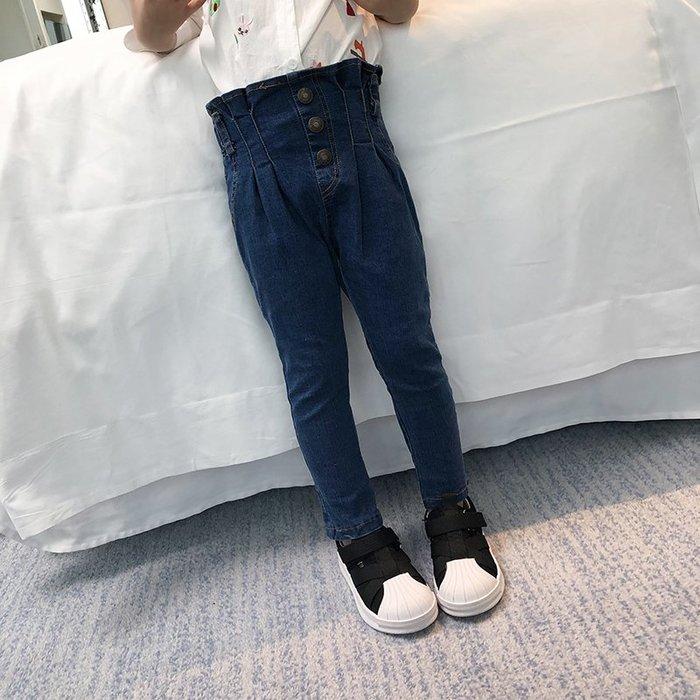 童裝女童牛仔褲2019新款韓版時尚春裝薄款長款兒童褲子春秋外穿