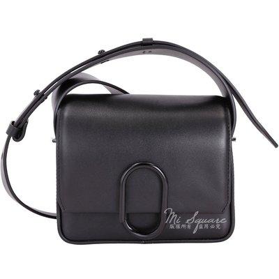 米蘭廣場3.1 Phillip Lim Alix Flap 黑迴紋針造型斜背包(Mini/ 黑色) 1710992-01 台中市
