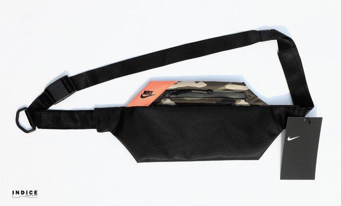 INDiCE ↗ Nike AirMax Hip 防潑水尼龍肩腰包 BA5856 010 迷彩黑/螢光橘