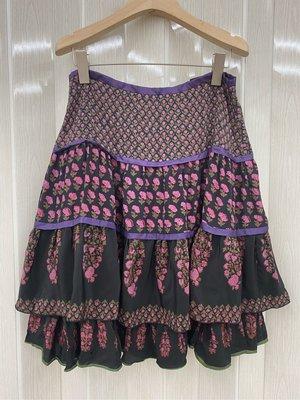 二手專櫃品牌ANNA SUI花朵櫻花蛋糕裙6號